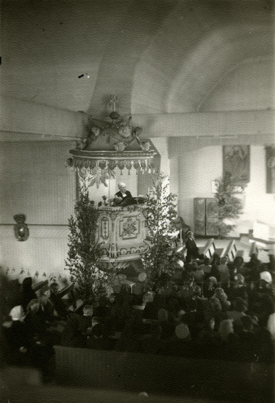 Interiör från Vörå kyrka.