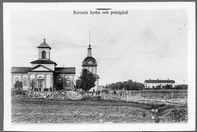 Korsnäs kyrka och prästgård, reprofotografi från  ...