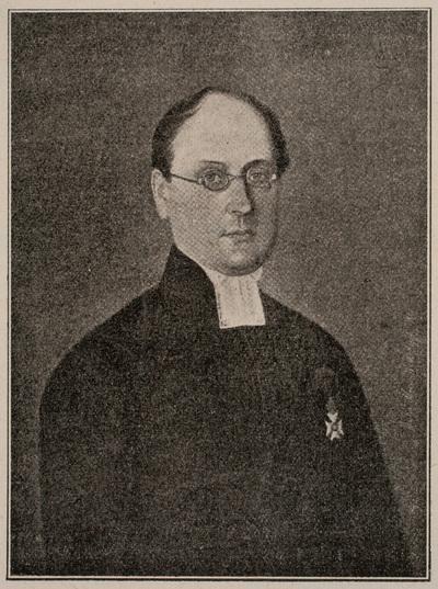 Johan Ludvig Runeberg i prästdräkt.