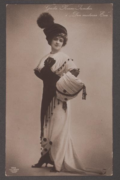 Gerda Krum-Juncker (1878-1953), dansk skådespelare, i  ...