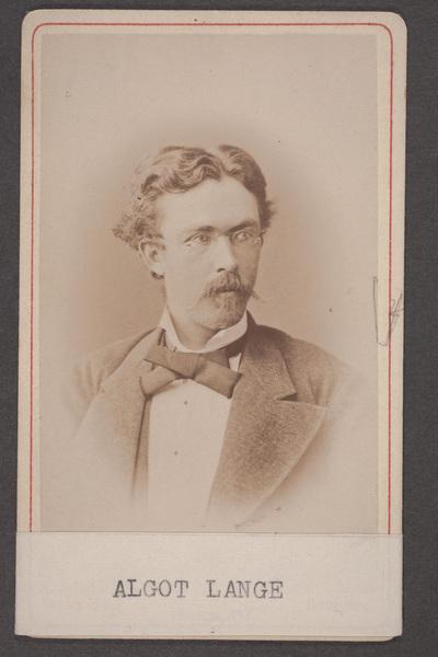 Algot Lange (1850-1904), svensk operasångare (basbaryton)  ...