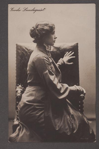 Gerda Lundequist, ursprungligen Lundqvist (1871-1959), svensk  ...