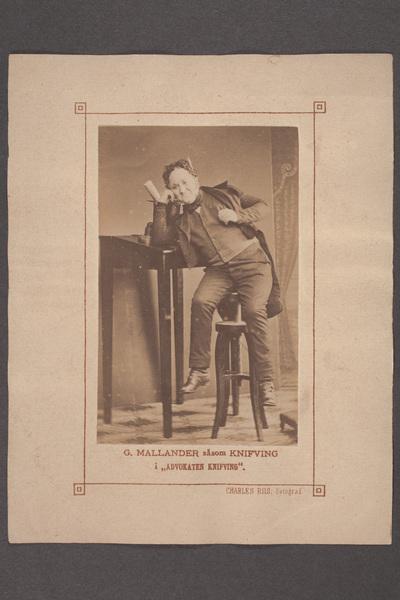 Gustaf Mallander (1840-1888), svensk skådespelare, författare  ...
