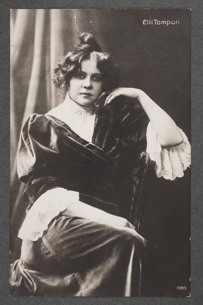 Elli Tompuri (1880-1962), finländsk skådespelare, regissör,  ...