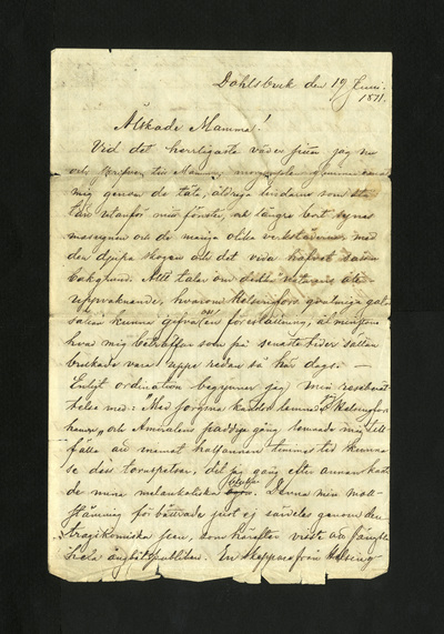 Dahlsbruk den 19 Juni. 1871.