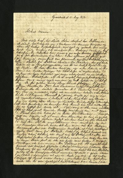 Granbäck d. 31 Aug. 1872