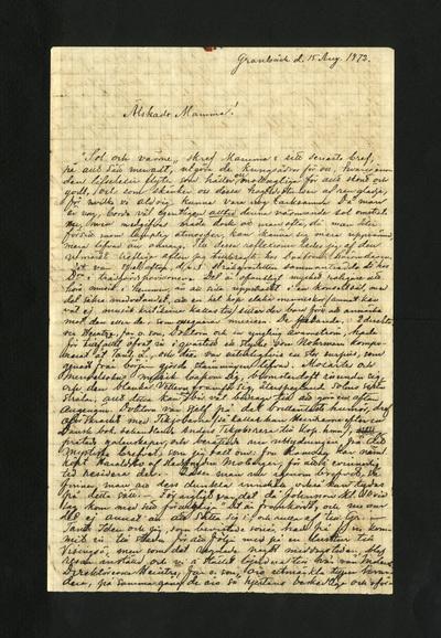 Granbäck d. 15 Aug. 1872.
