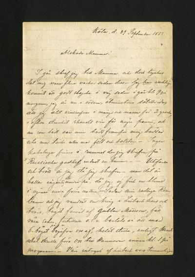 Köln. d. 29 September 1873.