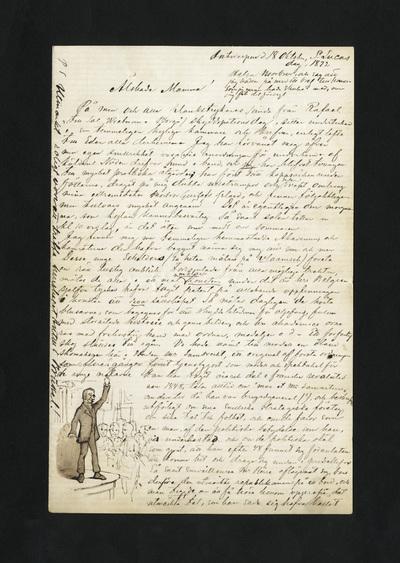 Antwerpen d. 18 Oktober, St Lucas dag, 1872