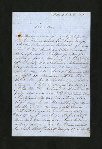 Paris d. 8 Maj 1874