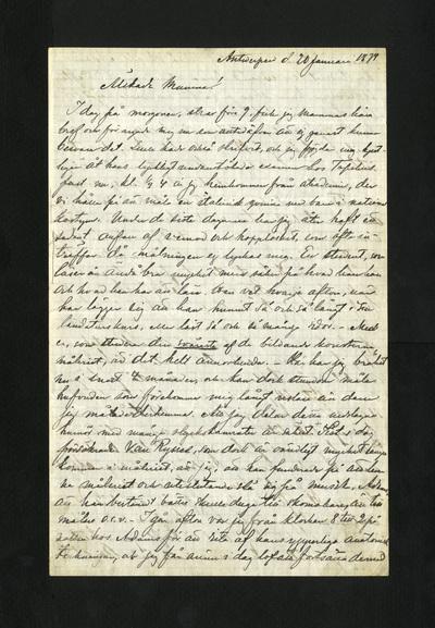 Antwerpen d. 20 Januari 1874