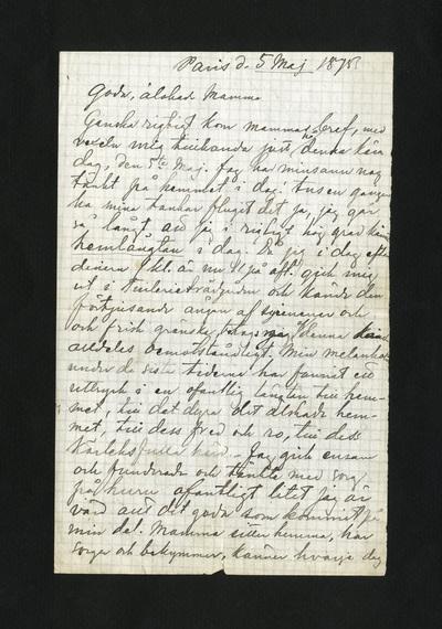 Paris d. 5 Maj 1875