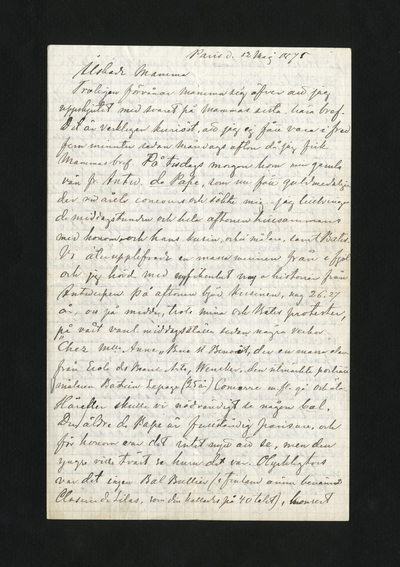 Paris d. 12 Maj 1875