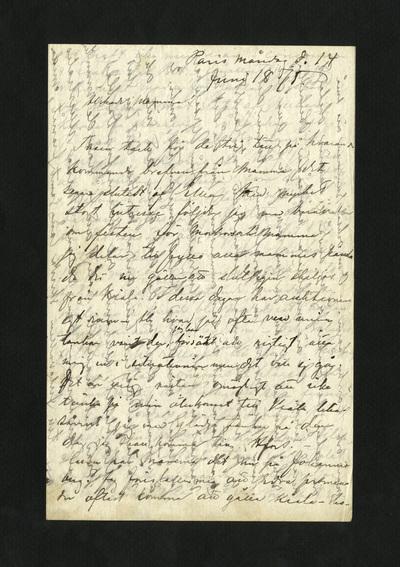 Paris måndag d. 14 Juni 1875.