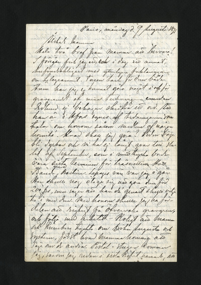 Paris, måndag d. 9 Augusti 1875