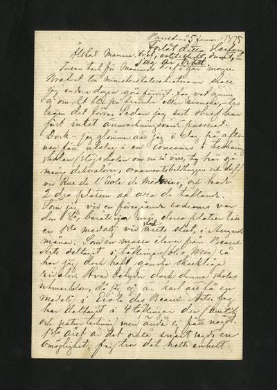 Paris den 25 Januari 1875