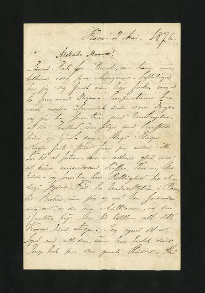 Rôm. 2 Mai. 1876.