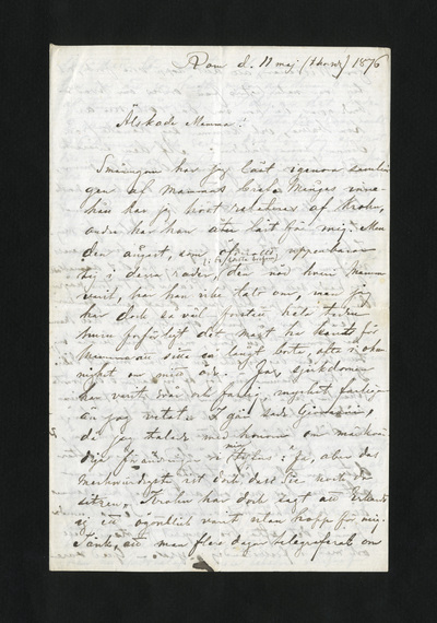 Rom d. 11 maj (thorsdag) 1876
