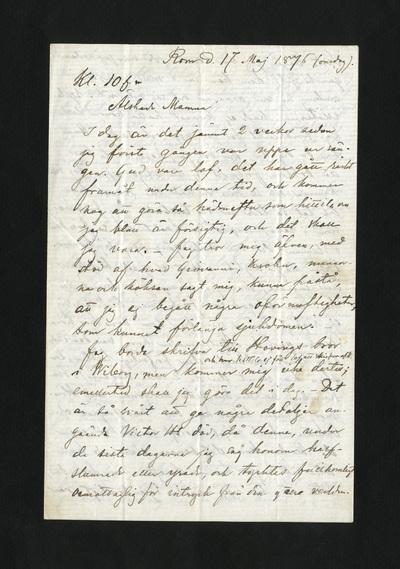 Rom d. 17 Maj 1876 (onsdag)