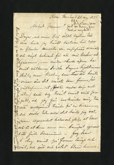 Rom, thorsdag d. 25 maj 1876