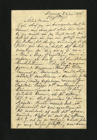 Frascati d. 4 Juni pingstdagen 1876