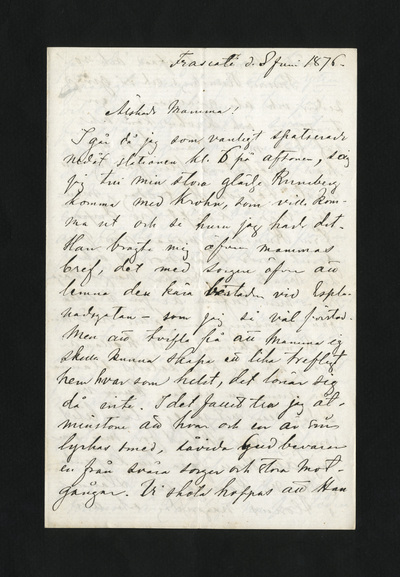 Frascati d. 8 Juni 1876.