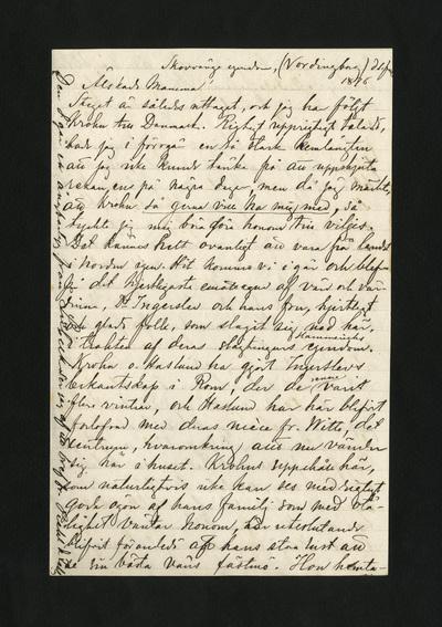 Skovvänge egendom, (Vordingborg) d. 1 Juli 1876