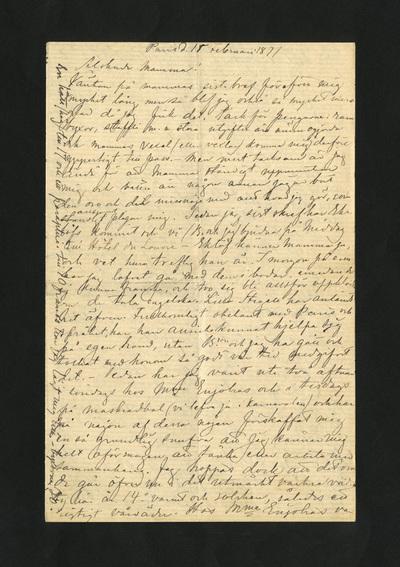 Paris d. 15 Februari 1871