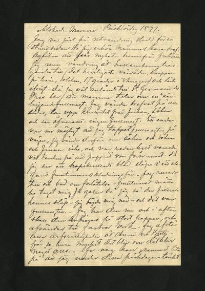 Påsklördag 1877.