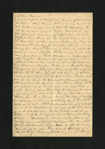 Paris d. 18 maj 1877.