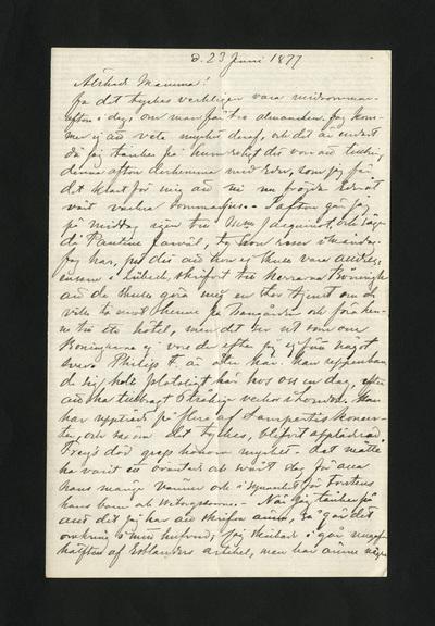 d. 23 Juni 1877