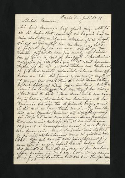 Paris d. 3 Juli 1878