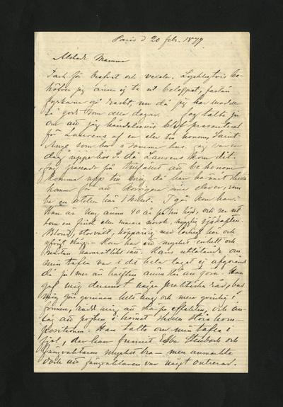 Paris d 20 febr. 1879.