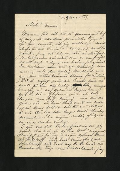 d. 8 mars 1879.