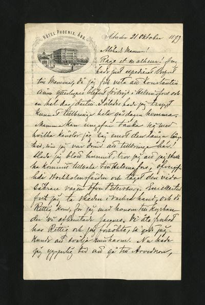 Åbo, den 21 Oktober 1879