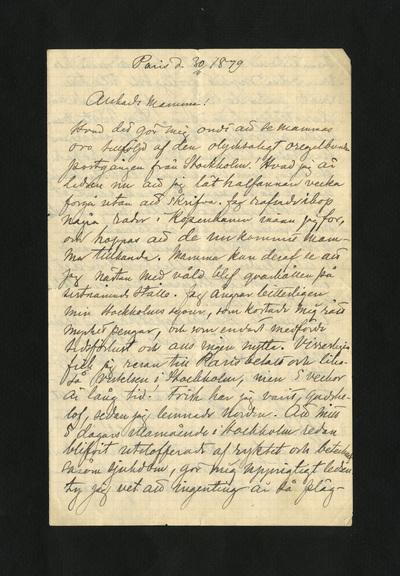 Paris d. 30/11 1879