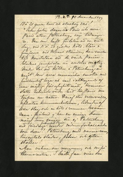 Paris d. 10 december 1879