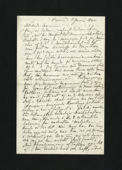 Paris d. 11 Juni 1880