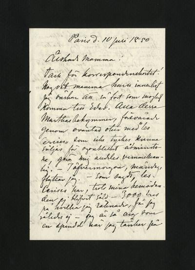 Paris d. 10 Juli 1880