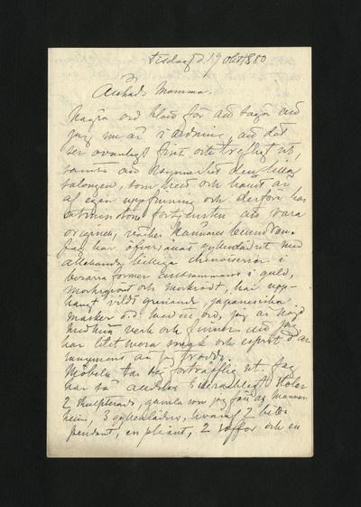 Tisdag d 19 okt 1880