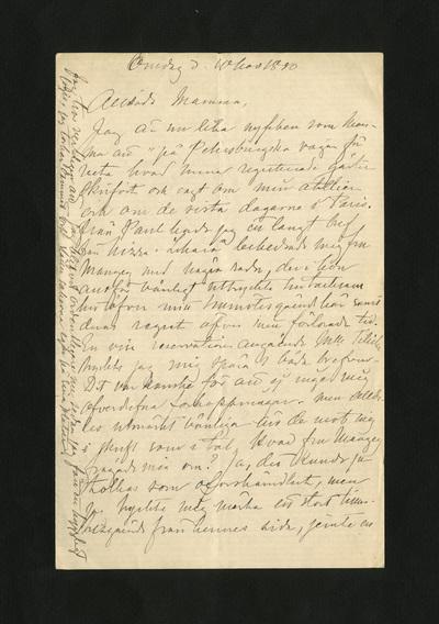 Onsdag d. 10 Nov 1880