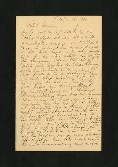 Fredag d. dec. 1880