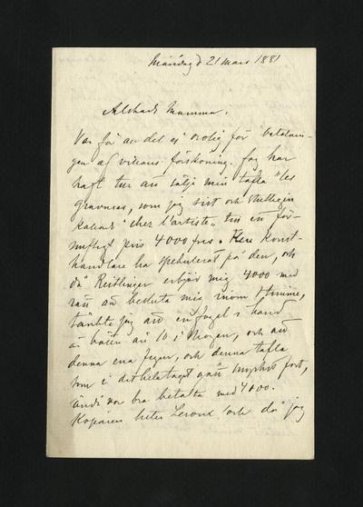 Måndag d 21 mars 1881