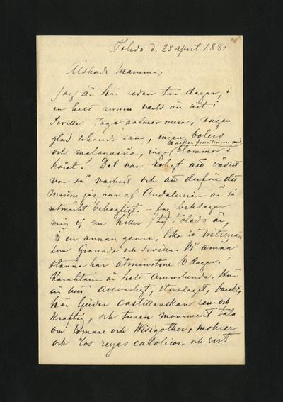 Toledo d. 28 april 1881