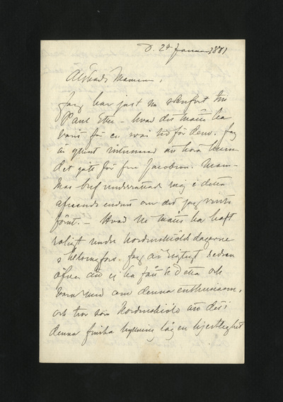d. 24 Januari 1881