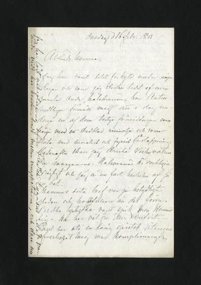 Onsdag d 16. febr. 1881