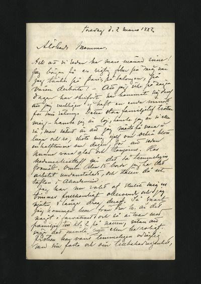 Torsdag d. 2 mars 1882