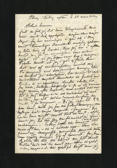 P.burg. tisdag afton d 28 mars 1882
