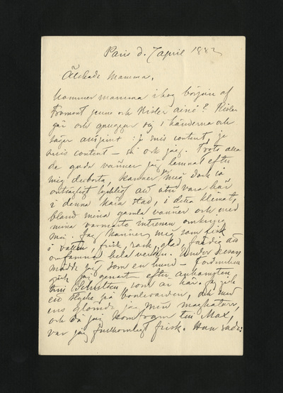 Paris d. 7 april 1882