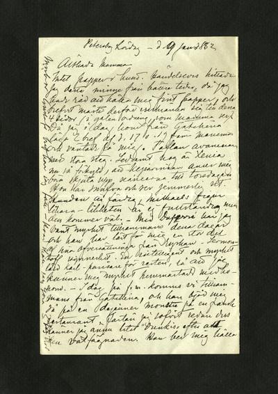 Petersburg Lördag – d. 9 jan. 1882